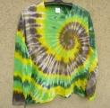 Batikované tričko Lesní spirála, XXL Šťastní lidé-M