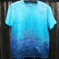 Modré batikované tričko Laguna, L