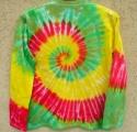 Batikované triko dlouhý rukáv Happy, M Šťastní lidé