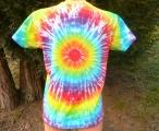 Dámské batikované tričko Duhovka XL Šťastní lidé-V