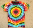Dámské batikované tričko Iris M Šťastní lidé-V