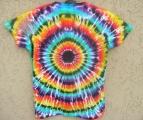 Dámské batikované tričko Iris XXL Šťastní lidé-V