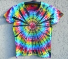 Dámské batikované tričko Spider, L
