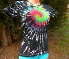 Dámské tričko Zrození Duhy, batika, M