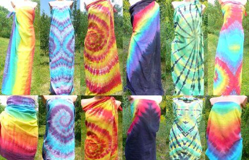 Velké šátky parea originální batika