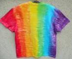 Batikované tričko Duha, XL Šťastní lidé-M