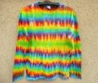 Batikované tričko Duhová magie, L