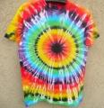 Batikované tričko duhové Iris L