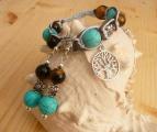 Náramek a naušnice z drahých kamenů