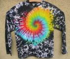 Batikované tričko duhové Fénix, XL