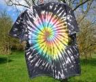 Batikované tričko Zrození rebela, XXL Šťastní lidé-M