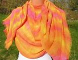 Přírodní batikovaný šátek