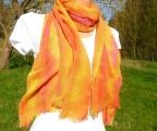 Šátek, šála Vínová, batika 170x80