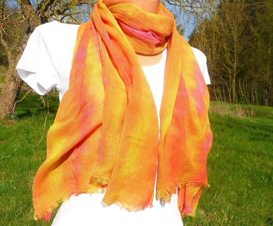 Šátek meruňkový viskoza