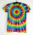 Dámské batikované tričko Duhovka M