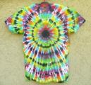 Dámské batikované tričko Imagination L zezadu