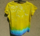 Dámské tričko Hippies, ruční batika, XL Šťastní lidé-M