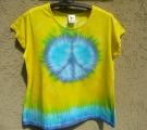 Batikované tričko Hippies