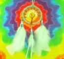 Lapač snů Strom života - mentolový (střední)