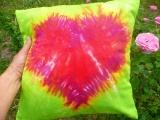Povlak na polštářek 40x40cm Srdce v zeleni Šťastní lidé-M