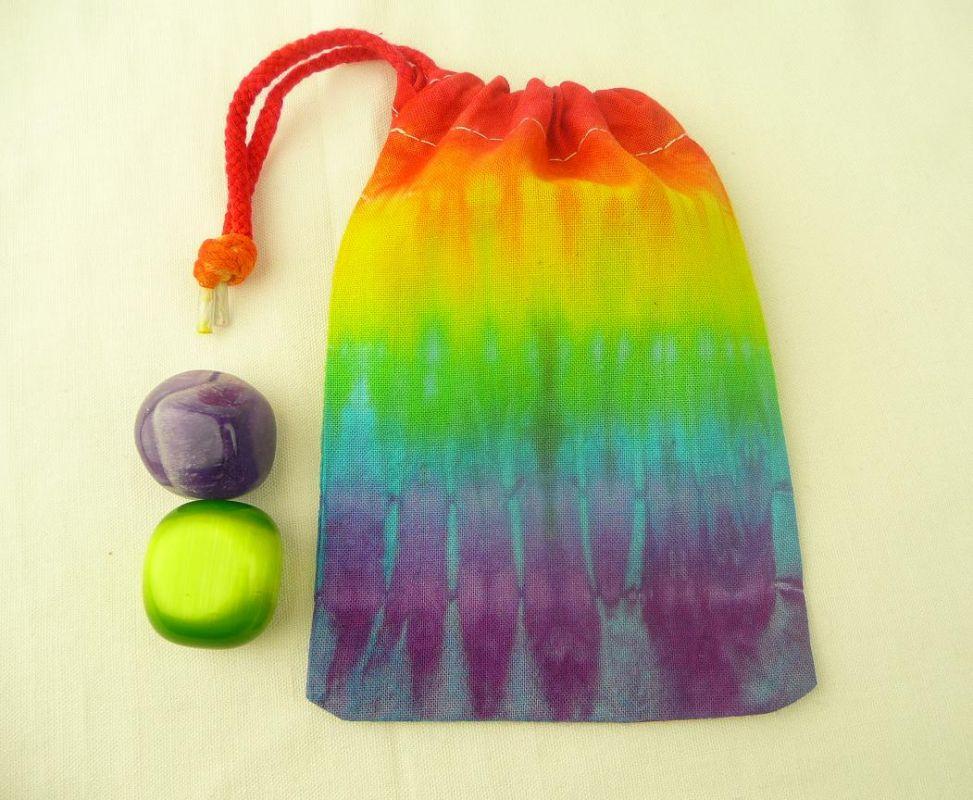 Duhový sáček batika