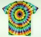 Batikované tričko duhové Iris M