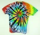 Batikované tričko duhové Rebel XXL