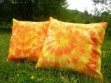 Batikovaný povlak na polštářek 40x40 Oranžový - SADA (2ks)