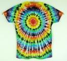 Dámské batikované tričko Spektrum XXL zezadu