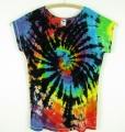 Dámské dlouhé tričko (šaty) batikované Rebelka XXL