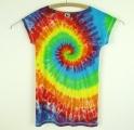 Dámské dlouhé tričko (šaty) Duhová spirála M