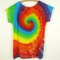 Dámské dlouhé tričko (šaty) Duhová spirála XXL zezadu