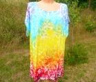 Dámské šaty letní duhové