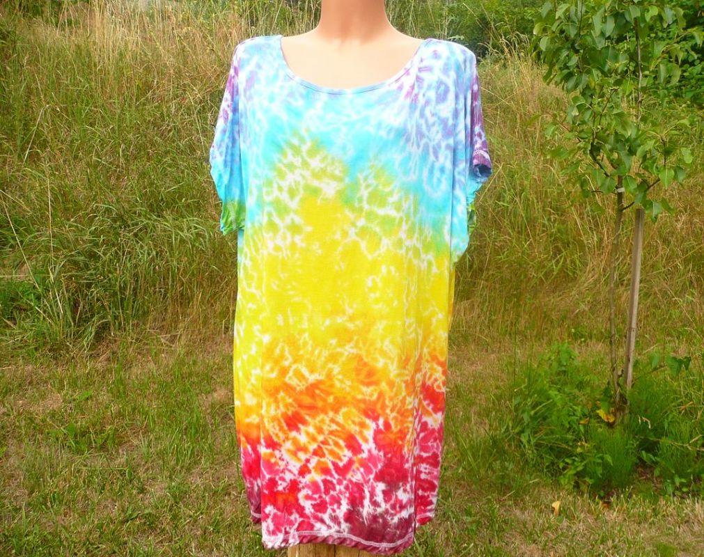 Duhová batika šaty dámské