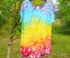 Dámské dlouhé tričko (šaty) Duhové nebe, XXL