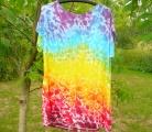 Dámské dlouhé tričko (šaty) Duhové nebe, XXL Šťastní lidé-M