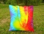 Duhová taška látková nákupní batika Cikcak