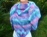 Velký šátek modrý