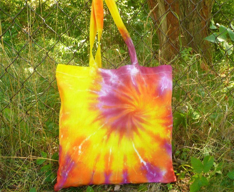 Batikovaná taška Sluneční