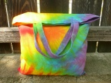 Batikovaná taška duhová