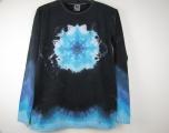 Batikované tričko Modrá mandala