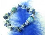 Náramek lapis lazuli křišťál