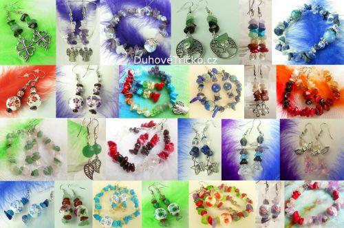 Šperky z drahých kamenů náušnice náramky