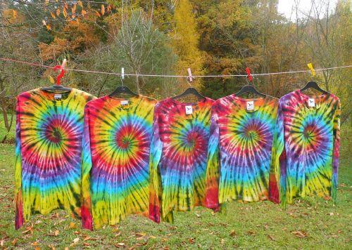 Batikovaná trička pro celou rodinu na zakázku