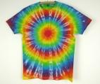 Batikované tričko Duhovka L