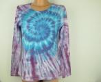Dámské batikované tričko Modrá galaxie, L