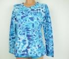 Dámské batikované tričko modré Neptun, L