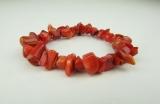 Červený korál - přírodní náramek