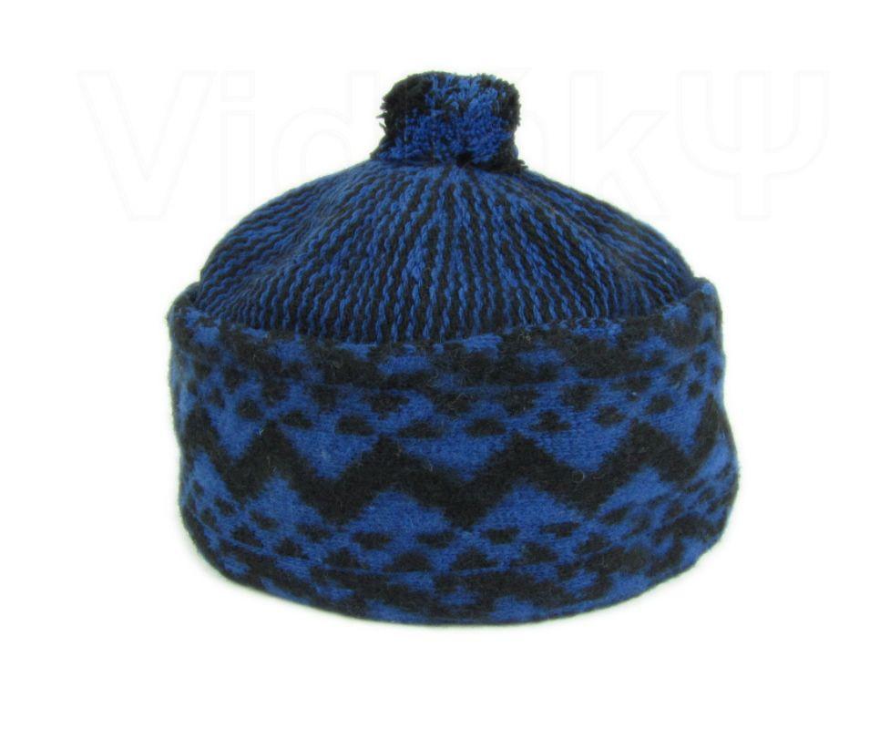 Zmijovka - čepice zmijovka tmavě modrá - černá