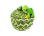 Zmijovka - čepice zmijovka žlutozelená se žabkou